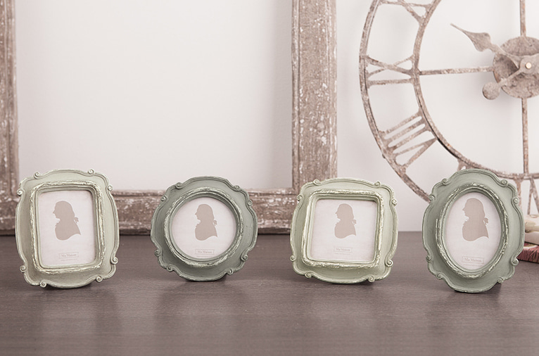 4 types of grey small photo frame (K18D006C1-C3, 006X)