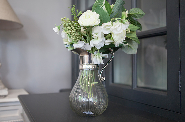 Nickel jug with glass (68912)