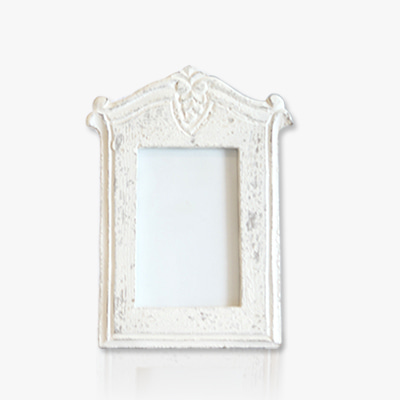 Vintage white wood frame (275)