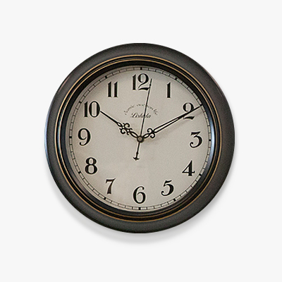 White and metal clock (CHG301-2)