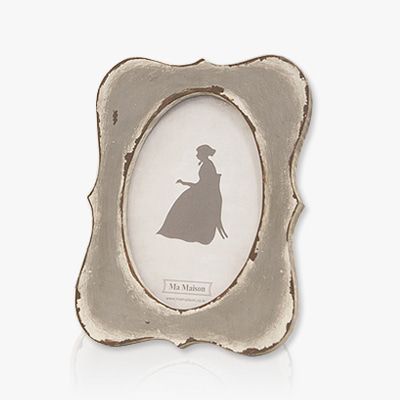 Vintage grey curve photo frame (K17F365A1)