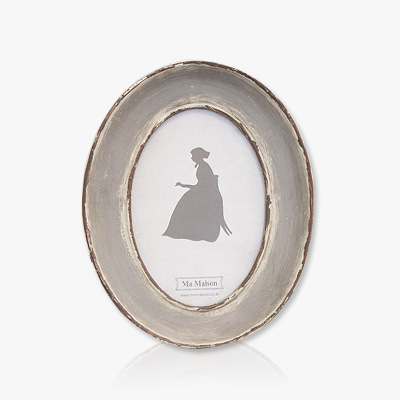 Oval grey photo frame (K17F323A)