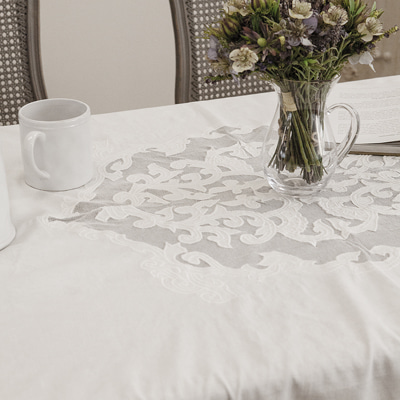Cotton+linen blended tablecloth (TCLE1)