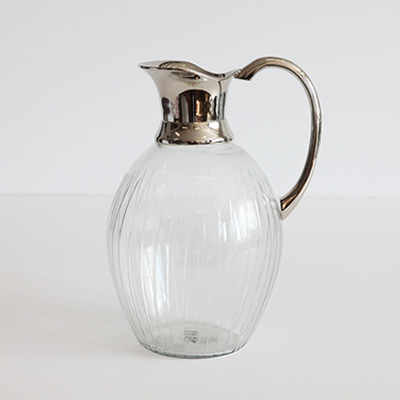 Nickel jug with glass (62919)