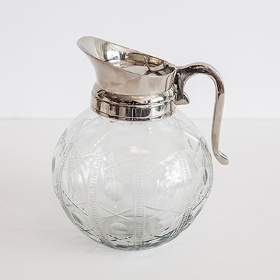 Nickel jug with glass (50732/L)