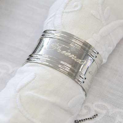 Nickle design napkin ring (2328/O/24337)