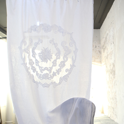 Original french linen curtain (CUMV16)
