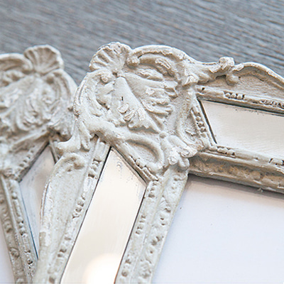 Vintage mirror photo frame (K23F327A, K23F327W)