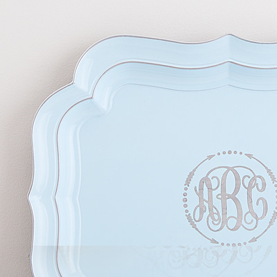Large size of light blue tray (HS116S-LB)