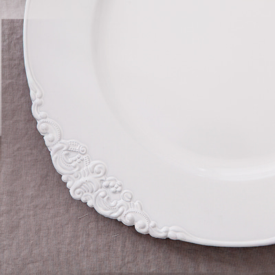 Pure white plate (HS313-W)