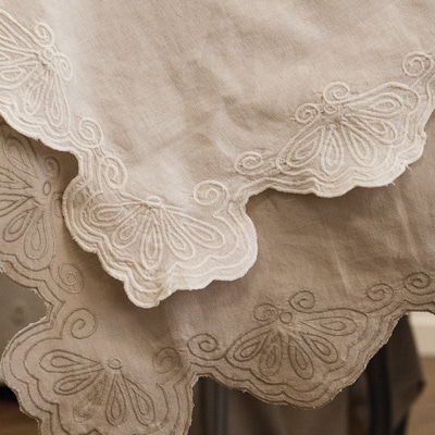 Cotton+linen blended tablecloth (TCLE2)